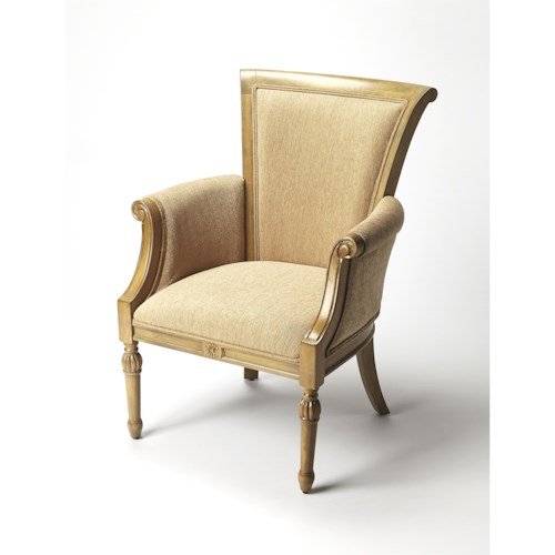 Butler Specialty Company Accent Seating BUTLER CHIARA CAPPUCCINO ACCENT CHAIR