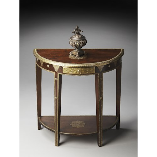 Butler Specialty Company Artifacts Demilune Console Table