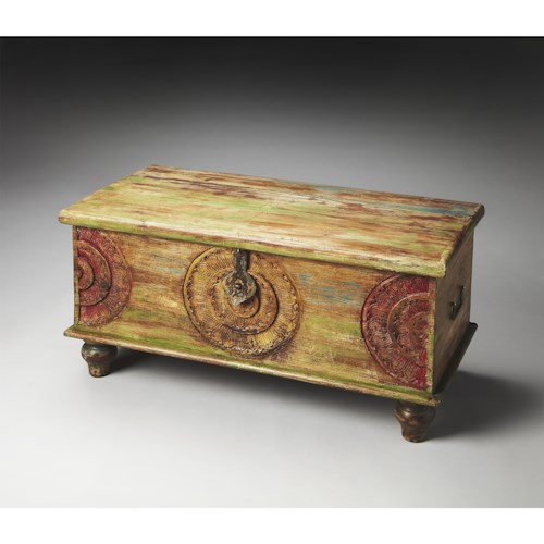 Butler Specialty Company Artifacts Trunk Cocktail Table