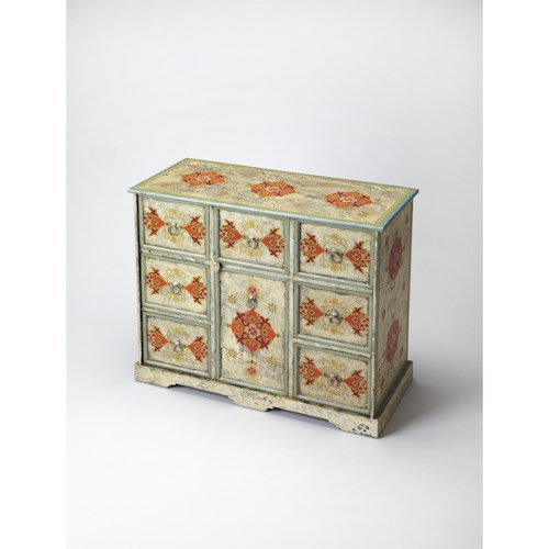 Butler Specialty Company Artifacts Hand Painted Accent Chest