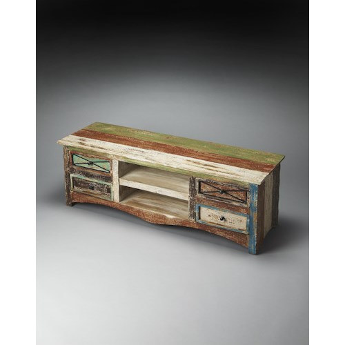 Butler Specialty Company Artifacts Decatur Recycled Wood Entertainment Console
