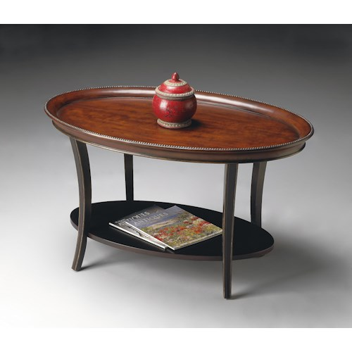 Butler Specialty Company Artist's Originals Oval Cocktail Table