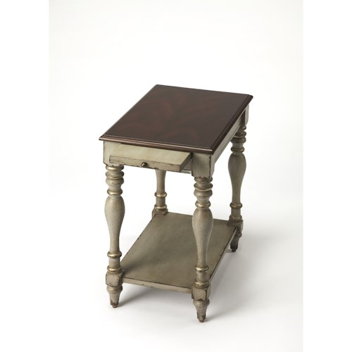 Butler Specialty Company Artist's Originals Fabia Antique Gray Chairside Table