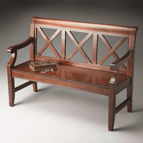 Butler Specialty Company Benches and Ottomans X Back Bench