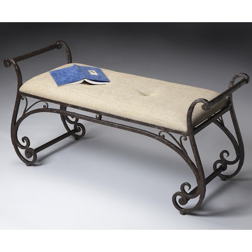 Butler Specialty Company Benches and Ottomans Upholstered Seat Bench