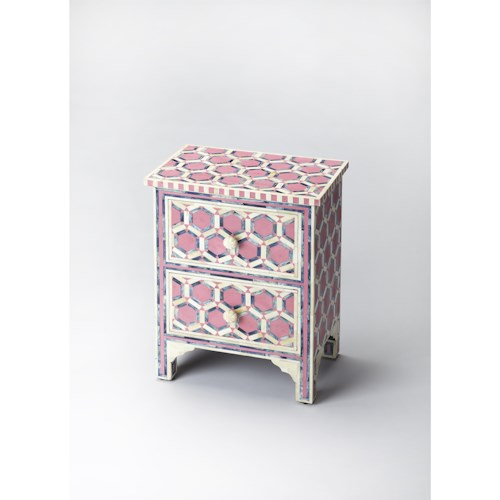 Butler Specialty Company Bone Inlay Vivienne Pink Bone Inlay Accent Chest