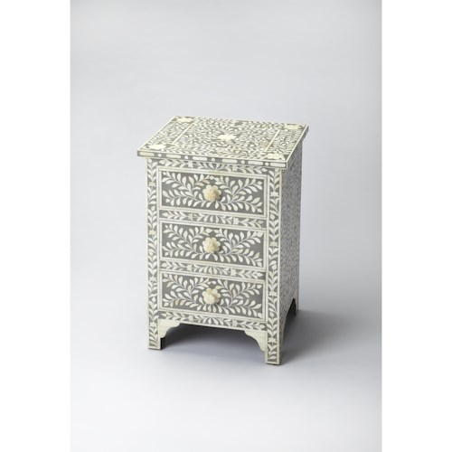 Butler Specialty Company Bone Inlay Vivienne Gray Bone Inlay Accent Chest