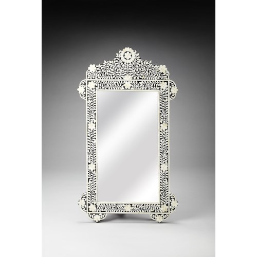 Butler Specialty Company Bone Inlay Bone Inlay Wall Mirror
