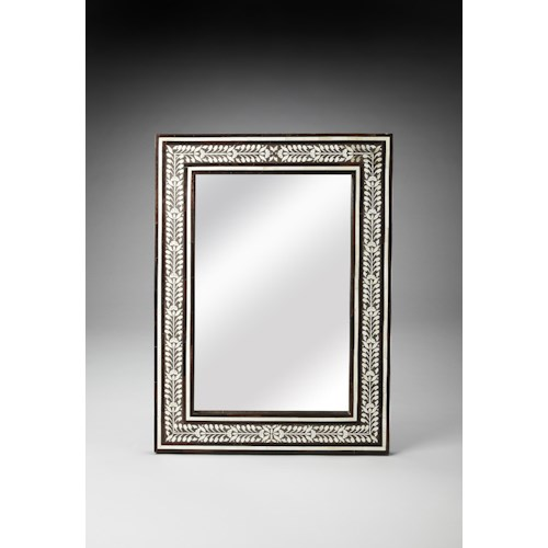 Butler Specialty Company Bone Inlay Bone Inlay & Wood Wall Mirror