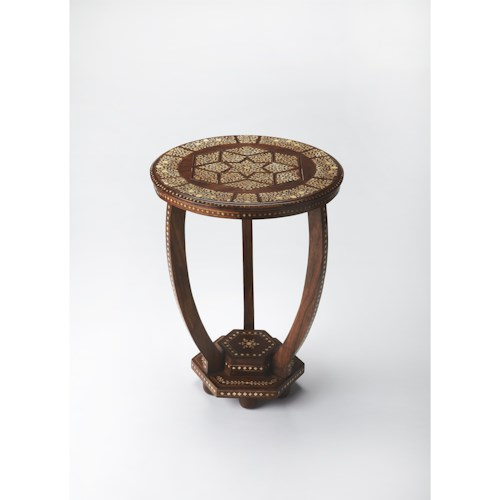 Butler Specialty Company Bone Inlay Wood & Bone Inlay Accent Table