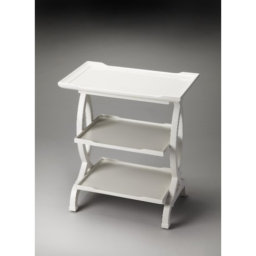 Butler Specialty Company Butler Loft Kimiko Glossy White Side Table