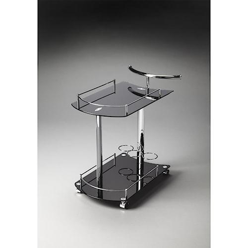 Butler Specialty Company Butler Loft Penelope Black Glass Serving Cart