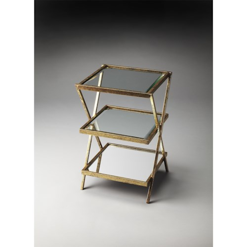 Butler Specialty Company Butler Loft Delilah Antique Gold Tiered Side Table