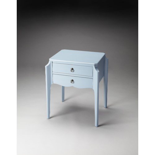 Butler Specialty Company Butler Loft Wilshire Glossy Wedgewood Accent Table