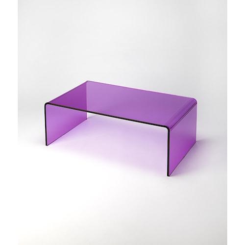 Butler Specialty Company Butler Loft Crystal Purple Acrylic Cocktail Table