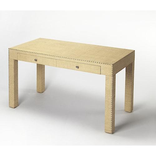 Butler Specialty Company Butler Loft Danilo Cream Raffia Writing Desk