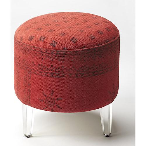 Butler Specialty Company Butler Loft Borrego Red Pouffe Ottoman