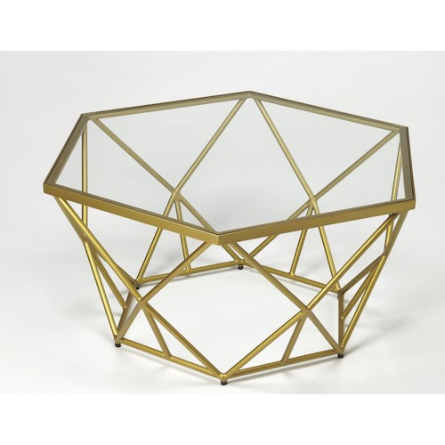 Butler Specialty Company Butler Loft Alondra Gold Powder Coated Cocktail Table