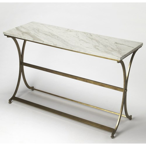 Butler Specialty Company Butler Loft Pamina Travertine Console Table