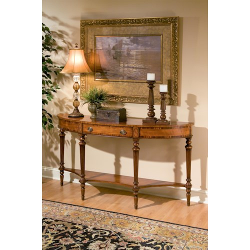 Butler Specialty Company Connoisseur's Demilune Console