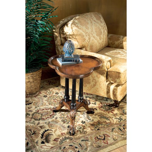 Butler Specialty Company Connoisseur's Clover Leaf Pedestal Table