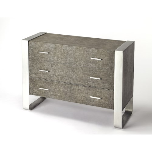Butler Specialty Company Cosmopolitan Cavallo Modern Leather Console Chest