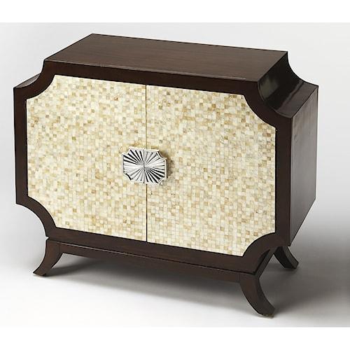 Butler Specialty Company Cosmopolitan Anaya Capiz Shell Console Cabinet