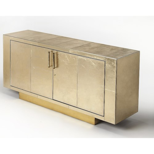Butler Specialty Company Cosmopolitan Francois Gold Leather Buffet