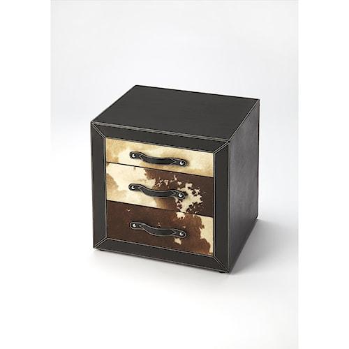 Butler Specialty Company Cosmopolitan Ella Leather & Hair-on-hide Side Table