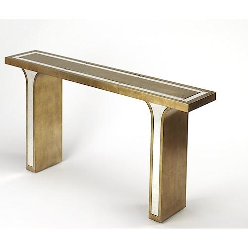 Butler Specialty Company Cosmopolitan Katya Silver Leaf Console Table