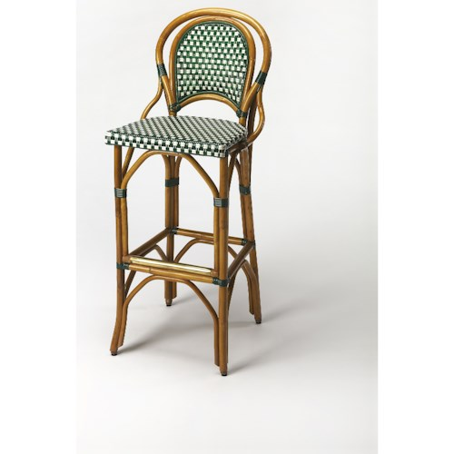 Butler Specialty Company Designers Edge Lydia Rattan Barstool