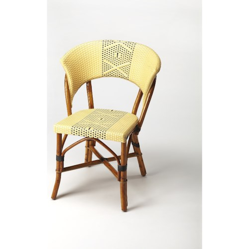 Butler Specialty Company Designers Edge Luna Rattan Side Chair