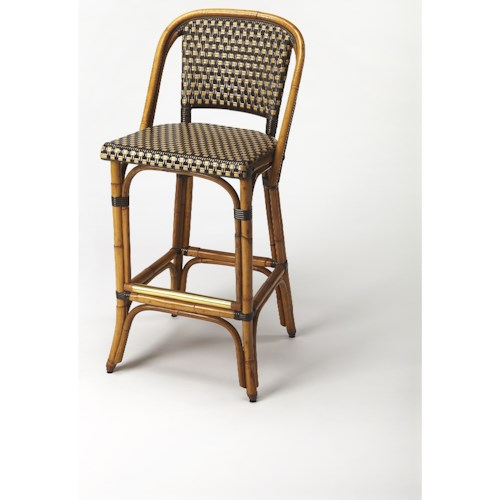 Butler Specialty Company Designers Edge Lila Rattan Barstool