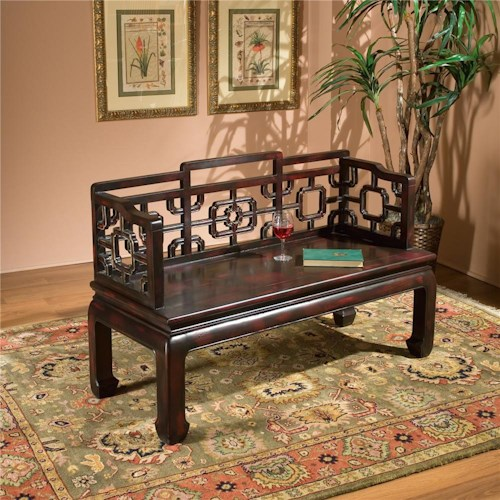 Butler Specialty Company Eastern Inspirations Bench with Cut Out Backs & Sides