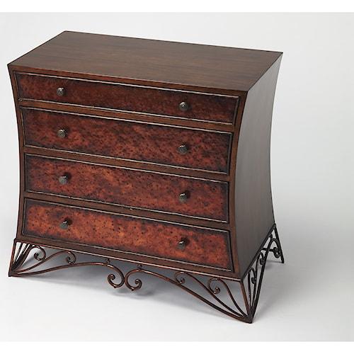 Butler Specialty Company Heritage Nicola Copper Console Chest
