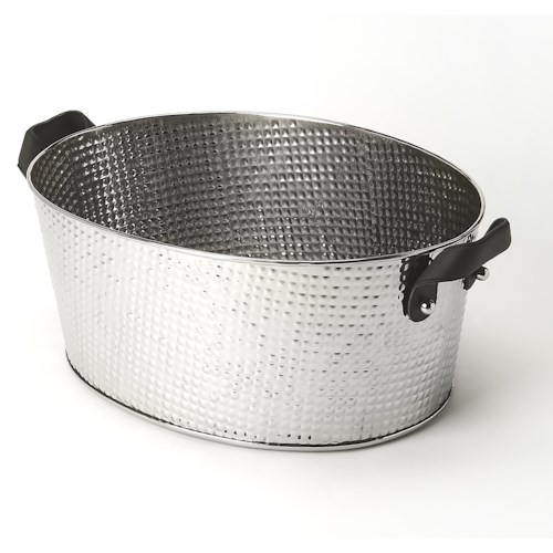 Butler Specialty Company Hors D'oeuvres Avant Hammered Stainless Steel Wine Bucket