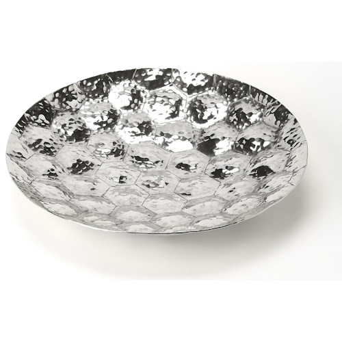 Butler Specialty Company Hors D'oeuvres Prismatic Hammered Stainless Steel Platter