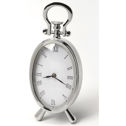 Butler Specialty Company Hors D'oeuvres Constance Oval Desk Clock