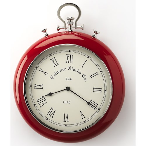 Butler Specialty Company Hors D'oeuvres Scarlet Red & Nickel Finish Wall Clock