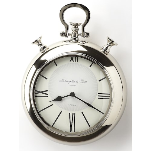 Butler Specialty Company Hors D'oeuvres Meridian Nickel Finish Wall Clock