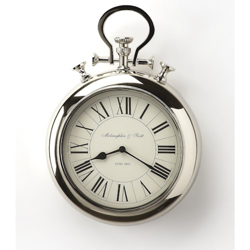 Butler Specialty Company Hors D'oeuvres Guilford Nickel Finish Wall Clock