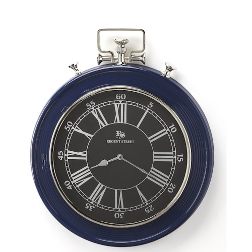 Butler Specialty Company Hors D'oeuvres Sapphire Blue Finish Wall Clock