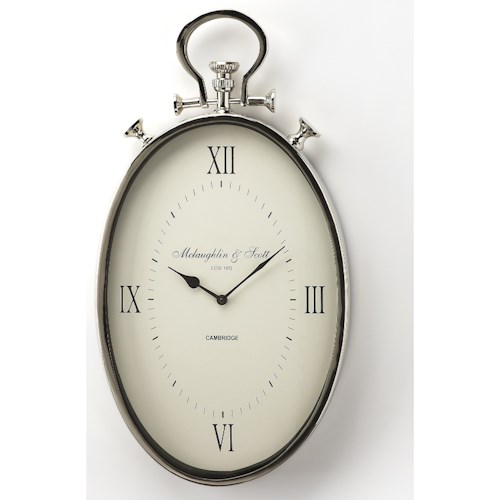 Butler Specialty Company Hors D'oeuvres Camden Oval Wall Clock