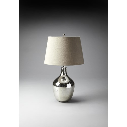 Butler Specialty Company Hors D'oeuvres Mercury Antique Nickel Table Lamp