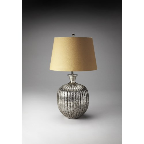 Butler Specialty Company Hors D'oeuvres Antique Nickel Table Lamp