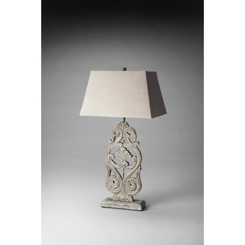 Butler Specialty Company Hors D'oeuvres Cathedral Gray Finish Table Lamp