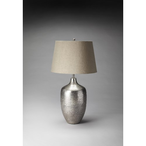 Butler Specialty Company Hors D'oeuvres Antique Silver Finish Table Lamp