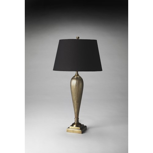 Butler Specialty Company Hors D'oeuvres Antique Brass Finish Table Lamp