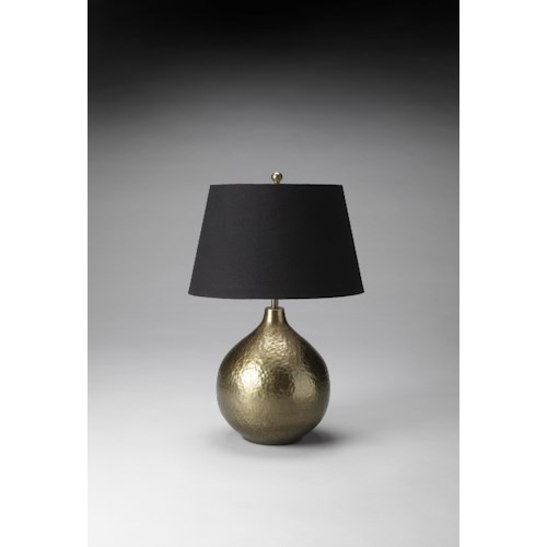 Butler Specialty Company Hors D'oeuvres Antique Brass Finish Lamp