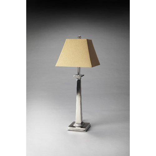 Butler Specialty Company Hors D'oeuvres Nickel Finish Table Lamp